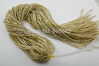 Cheap 2mm Silver Champagne AB color plated Glass Crystal Rondelle Loose Seed Beads