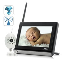 Wholesale Wireless Widescreen Inch LCD Baby Monitor GHz Wireless Baby Monitor Security System with Night Vision Camera
