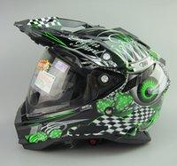 Wholesale New Taiwan THH motorcycle sports motorcycle helmet full helmet dual lens off road rally helmet black