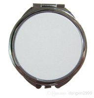 Wholesale 2015 New Blank sublimation printing Mirror Pocket mirror supply Make Up Mirror Double Sided Mirrors