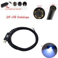 Wholesale 2M Waterproof Mini USB Endoscope Inspection Camera White LEDs CMOS mm Lens Mini Borescope Snake Tube Camera