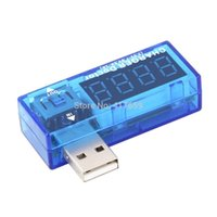 Wholesale 1pc Digital Display Hot Mini USB Power Current Voltage Meter Tester Portable Mini Current and Voltage Detector Charger Doctor