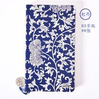 Wholesale Chinese style notebook Limited collection notebook Stationery Exquisite gift Retro style Blue and white porcelain pattern
