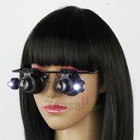 20X del joyero de la reparación del reloj del ojo lupas lente del estilo lupa lupa con luz LED Lupas FMGGE-5455