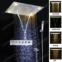 bathroom set china - Best Bathroom Accessories Rainfall Waterfall Shower Head China Combine LED Rain Shower Headsets Misty Hand Held Shower