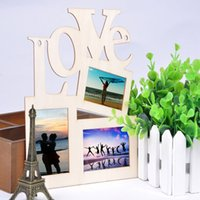 Wholesale Sweet Wooden Hollow Love Photo Picture Frame Home Decor Art DIY Gift New