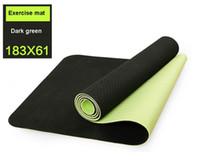 Wholesale Yoga TPE Mats for Fitness Tasteless Anti Slip mm Thick Yoga Mat Longer Beginner Thick Yoga Mats for Fitness Dance Pad
