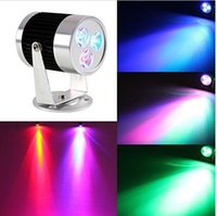 Wholesale 1PCS Mini W LED Stage Lighting RGB Wall Wash Effect Spotlight DJ Beam Lighting Costume party Halloween Christmas gift