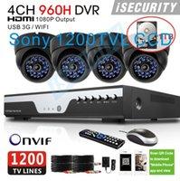 Cheap HD 4 Channel Sony 1200TVL IR CUT video Surveillance CCTV Camera Kit Home Security 960H DVR video Recorder System 4ch DVR 1TB HDD