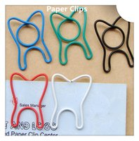 Wholesale 200Pcs Funny Tooth Shape Paper Clips Creative Bookmark Memo Clip Stationery for Office School Home Use Xmas Gift