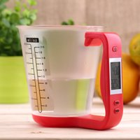 Wholesale Digital electronic measuring cup scale Jug Scale electronic kitchen scale baking tools milk powder Red Brand New
