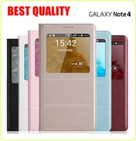 best leather case galaxy note - Best Quality wake sleep function flip leather case cover for Samsung Galaxy S5 I9600 Note S6 G9208 A5 A7 A3 with IC Chip Retail Package