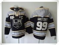 Wholesale ICE Hockey Hoodies Jerseys Kings Men Gretzky Black Best quality stitching Jerseys Sports Hockey jersey Mix Order