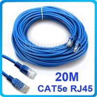 Wholesale 20M FT Blue RJ45 CAT5E CAT5 Ethernet Internet Network Patch LAN Cable Cord