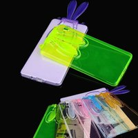 adorable rabbits - Adorable D Bunny Rabbit Ears Stand Transparent Soft TPU Case for Samsung Galaxy S6 G9200 Transparent Cord for Belt MOQ