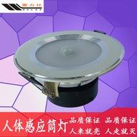 Wholesale LED human sense light induction ceiling lamp downlight downlight lamp W5W7W9W light body induction lamp
