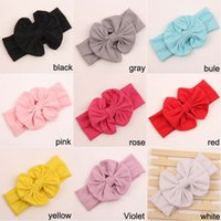 bows for girls hair - Baby Girl Hair Accessories Head Band For Children Big Bow Fabric Headbands Acessorios Para Cabelo Hot Sale
