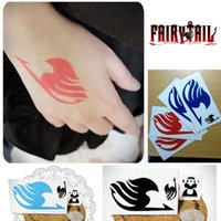 Wholesale pieces Fairy Tail Tattoo Sticker Natsu Elza Gray Lucy Cosplay Temporary Tattoos Waterproof Stickers