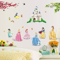 Wholesale 33 Inch Princesses Wall Stickers For Kids Room Snow White Decals Art Wall Hone Decoration Child Wallpaper JIA191