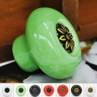 Wholesale Ceramic Handle Cabinet Door Pull Knobs Drawer Locker Cupboard Vintage Handle Furniture Hardware Product F60JJ1048W
