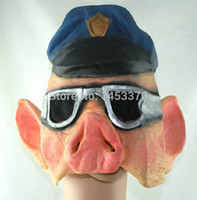 anti fog gel - Terrorist mask male magic props anti fog haze head mask captain silica gel mask death pig face