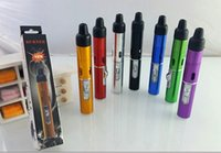 Wholesale 7 Colors Click N Vape Mini Herbal Vaporizer smoking pipe Trouch Flame Lighter With Built in Wind Proof Torch Lighter jet Flame Lighters