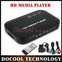 Wholesale 10PCS P Full HD HDD Media Player SD USB HDD HDMI AV VGA AV YPbpr Support DIVX AVI RMVB MP4 H FLV MKV Music Movie