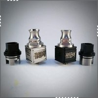 Replaceable rda - New HELLBOY RDA Mods Atomizer Rebuildable Drip coil Hell boy Square Body Clone Holes Airflow Control Huge Vapor RDA Atomizer DHL Free