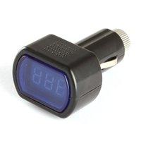 auto gauges electric - Promotions Mini LED Digital Auto Car Battery Voltmeter Electric Vehicle Voltage Tester Volt Meter Gauge Monitor V V CEC_625