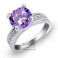 big fashion rings - Fashion big crystal CZ stone rings red sapphire diamond white gold plated women wedding engagement ring jewelry SR0663