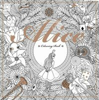 alice gardens - Alice in Wonderland Secret Garden Colouring Book for Adult Kids Creative Therapy Doodling Drawing Books Adhesive Binding Free DHL