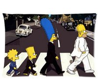 Wholesale Novelty Gift Decorative Fashion High Quality The Simpsons Family Walking Street Cushion Pillow Case Covers x30 inch