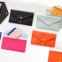 Wholesale 2016 Passport Cover Card Holders Passport Holder Cover Travel South Korea Contracted Envelope Type Multi purpose Wallet Color Hand Bag