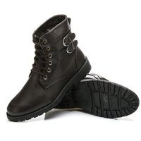 Wholesale 2015 New Fashion Men Round Toe Shoes Bullock Martin Boots Men Shoes Black Brown Color