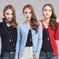 Wholesale Cashmere Cardigan For Women Girls Twisting Style Knitting Outwear Spring Autumn Style Fashion Casual Sweater Cardigan D009
