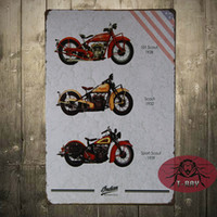 antique ship paintings - The Indian motorcycle painting Tin Signs Bar PUB House Vintage Metal poster decoration CM