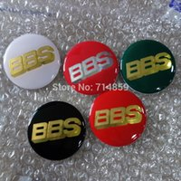 Wholesale 40pcs BBS Car Wheel Center Cap Badge Emblem Sticker GEL mm mm cm cm black red white green