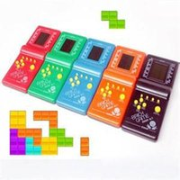 Wholesale 2014 New Developmental Children Educational Toys High Quality Tetris Game for Kids Convenient Handled Game Players