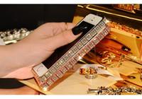 Wholesale Luxury Crystal Rhinestone Diamond Gold Slim Shining Bling Metal Case Bumper Frame For Apple iPhone s Plus