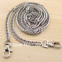 Wholesale 20pcs Dull Silver Metal mm and cm with Swivel Clasp Packge Handbag Bag Chain Wallet Chain Handle Findings Accessories