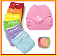 Vente en gros - 100% coton réglable lavable bébé couches de tissu réutilisables Baby Tissu Nappy avec livraison gratuite dans le monde entier!