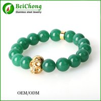 bc lions - BC Jewelry New Design Men s Charm Bracelets mm Mat Agate Stone Beads Antique Gold Lion Head Bracelet armbanden pulseira masculina BC