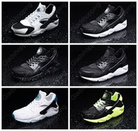 Wholesale 2015 New Black White Air Huarache Running Shoes For Men Women Grey Green Blue Athletic Shoes Breathable Huaraches Size