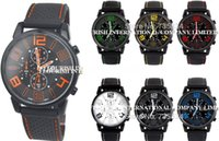 aviator pilot watch - Mix Colors Men Causal SPORT Military Pilot Aviator Army Silicone GT Watch RW013