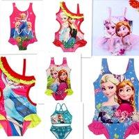 Wholesale colorful lace flower baby swim dress princess style cartoon kids swim dress student training swimming dress children pool dress