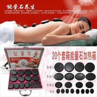 basalt black - 2015 Natural Energy lava body Massage stone relax stones with heater for Christmas gift hot spa rock basalt black stone lo