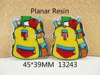 bathroom bag pattern - 5Y13243 freeshipping mm flat back resins school bag pattern planar resin diy holiday decoration accessories mini order