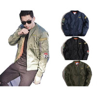 air force patches - New Bomber Quilted Thicken Army Jacket Flight Coat Air Force Military Reversible Rothco