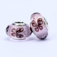 Wholesale 10pcs Pandora Style charm faceted murano glass beads loose beads thread bead butterfly beads jewelry T6