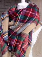 Wholesale Autumn Winter Beautiful Multi Colored Tartan Plaid Blanket Scarf Large Thicken Warmth Shawl For Women Ladies a Fall Blogger Favorite